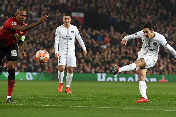 歐冠淘汰賽:巴黎聖日耳曼2:0完勝曼聯