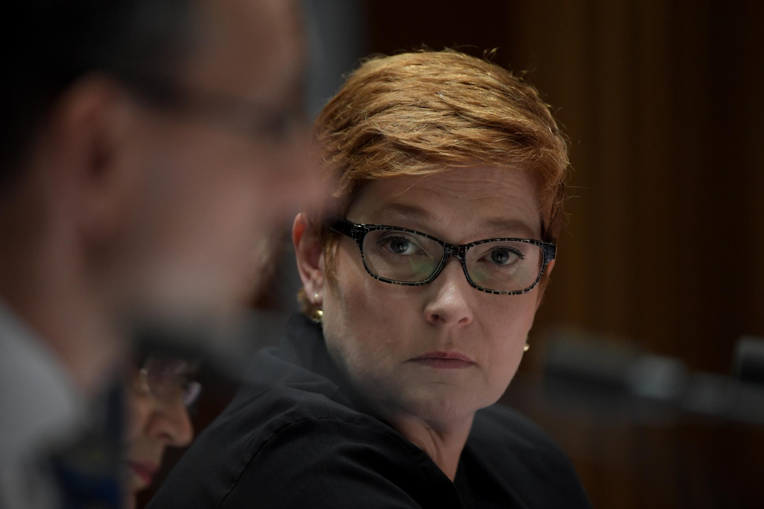 澳洲外交部長佩恩(Marise Payne)資料照。(Tracey Nearmy/Getty Images)