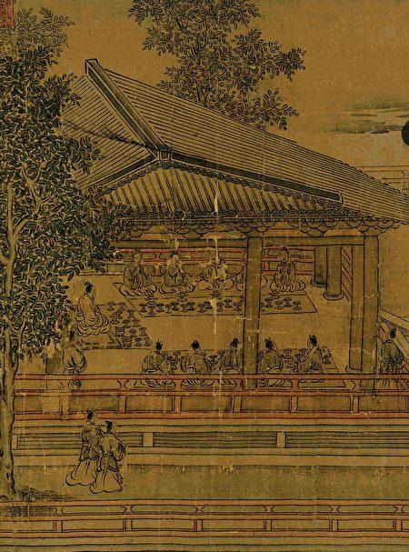 高宗书马和之画《鲁颂三篇图》(局部),绢本。(公有领域)