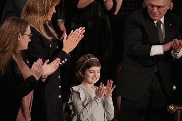 新州小女孩受邀参加总统国情咨文演讲会
