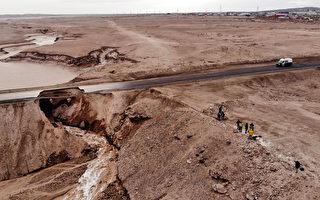 气候异常 世界最干燥沙漠出现水灾致6人死
