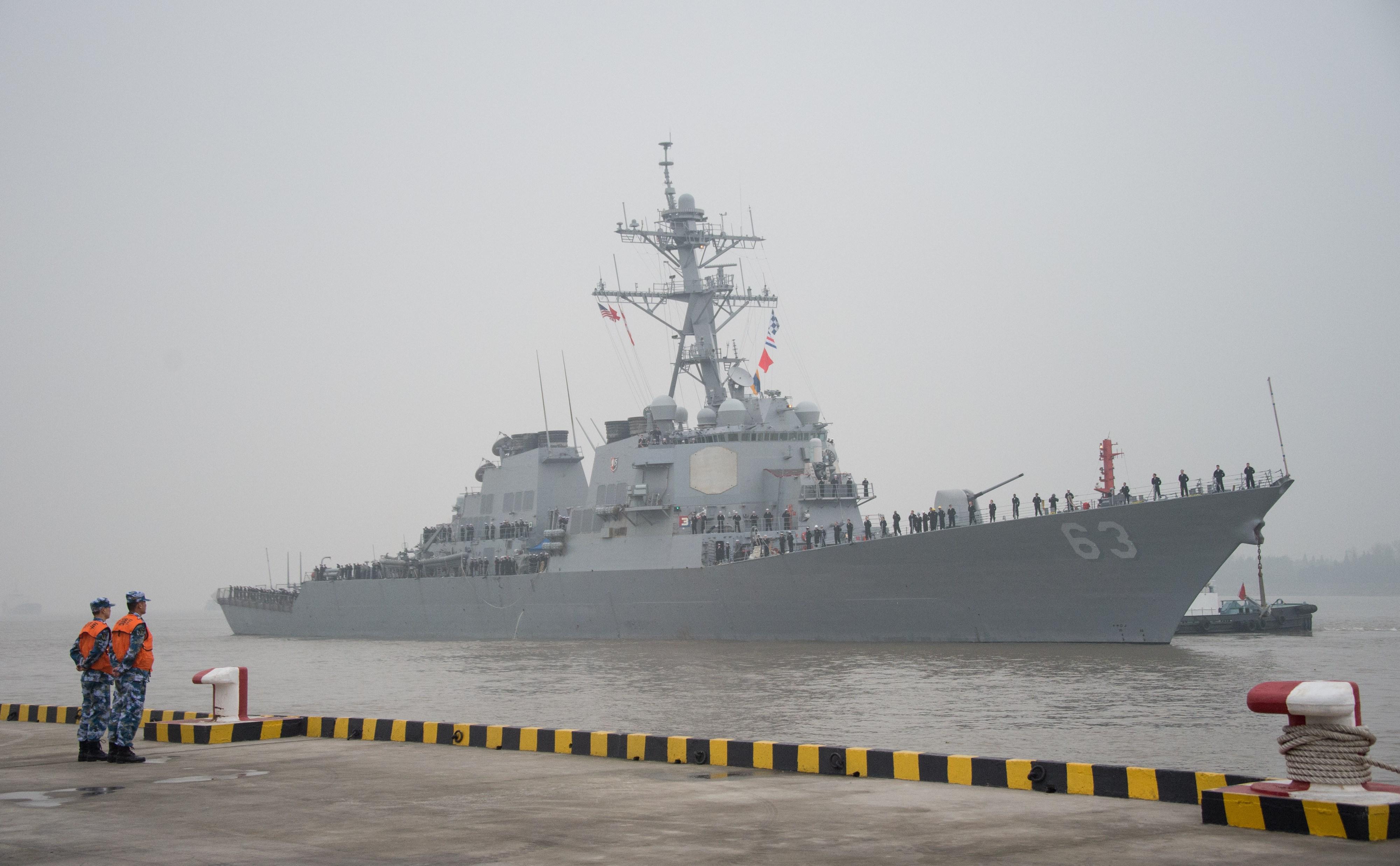 實現印太航行自由 美兩軍艦再通過台灣海峽