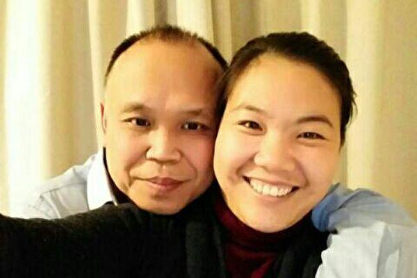 余文生三年來首見妻子 露出自信 開心地笑