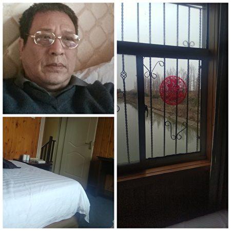 上海訪民顧國平2月18日在北京地鐵被截回後被關進橫沙島黑監獄。(大紀元合成/訪民提供)