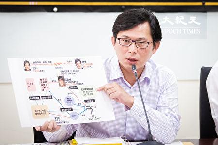 """时代力量立委黄国昌20日表示,TaxiGo董事长是现任阿里巴巴天猫台湾总经理吴德威,其背后为中资""""猎豹移动""""控制,透过台湾人头进入运输服务业,恐影响台湾资安。"""