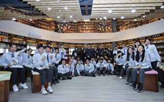 竹光国中社区共读站揭牌 图书馆如诚品书局。