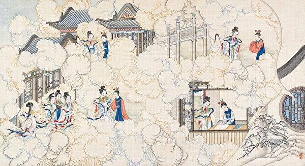 清·孫溫彩繪《紅樓夢》插圖。(公有領域)