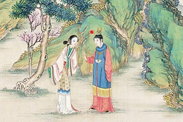 清·孙温彩绘《红楼梦》插图。(公有领域)