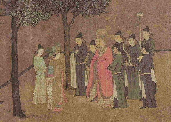 朱温最终真的将心仪的佳人娶回了家。示意图:宋 佚名《女孝经图卷》(局部),绢本。(公有领域)
