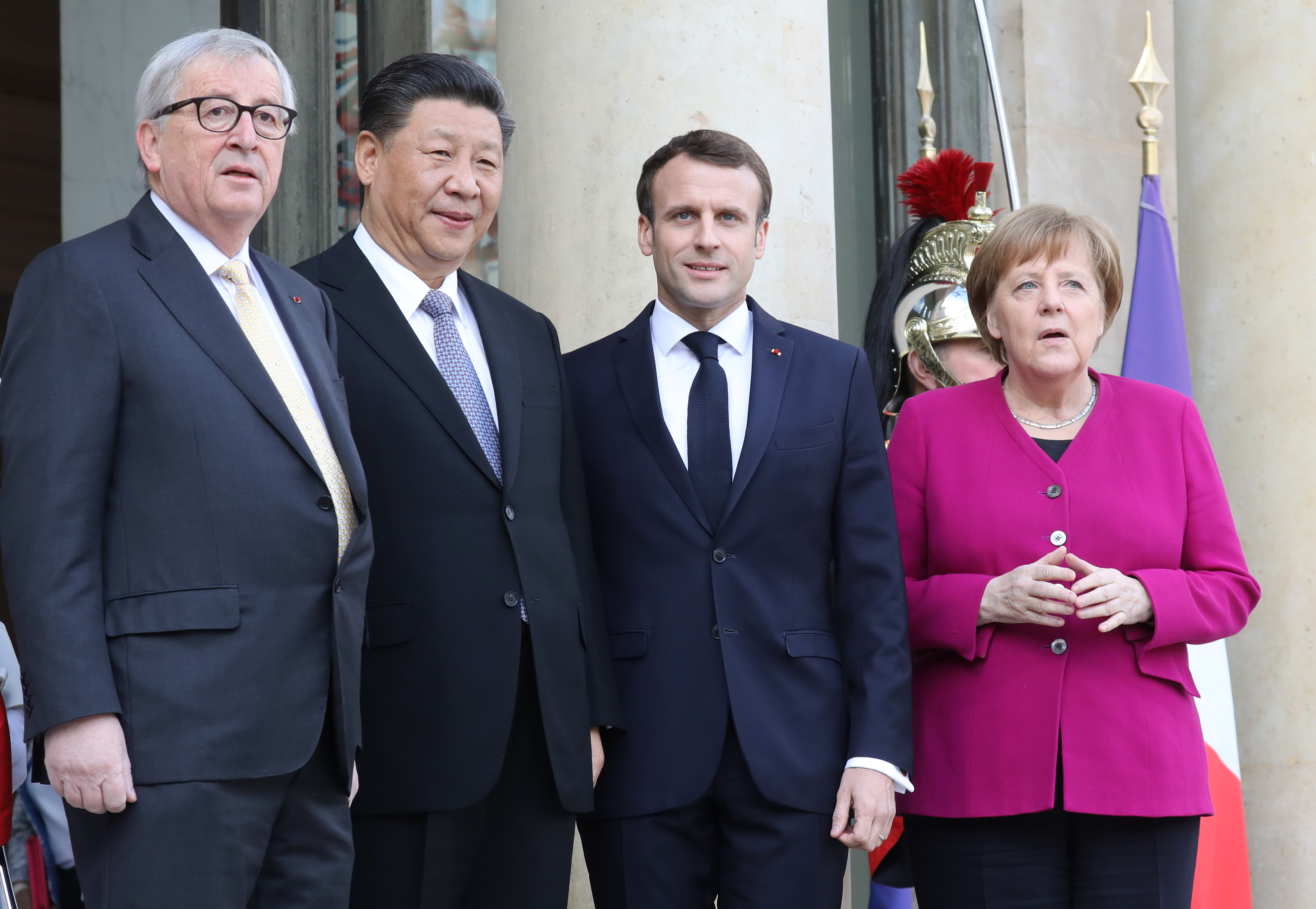 習近平訪巴黎 馬克龍籲中共尊重歐盟統一
