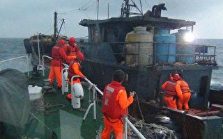 大陆油料补给船越界 台湾澎湖海巡查扣重罚