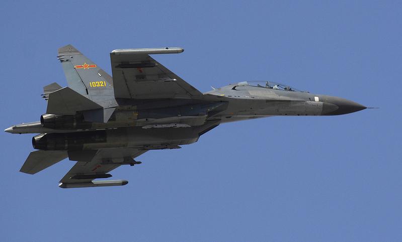 中共2架殲11戰機越台海中線 台戰機升空攔截