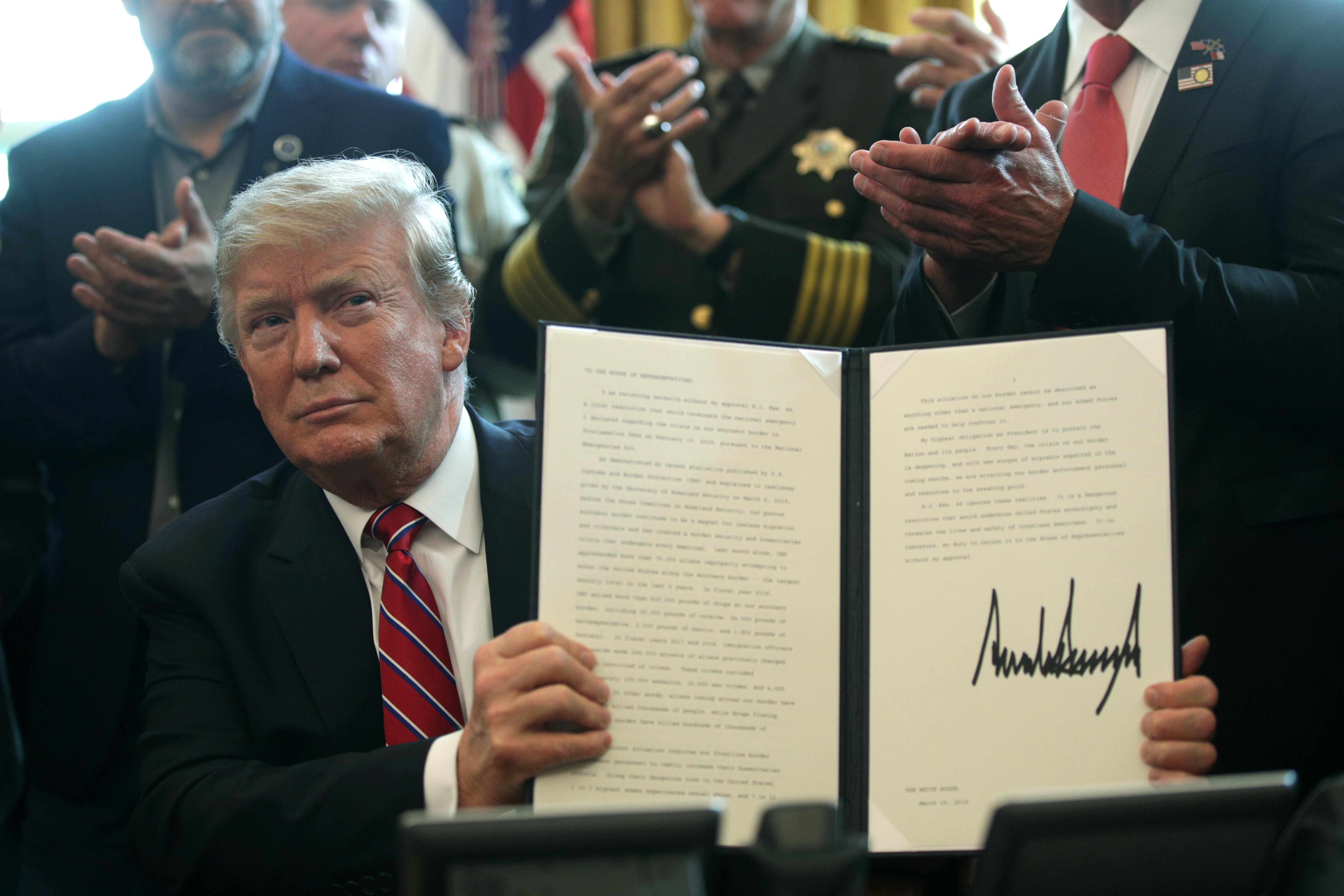特朗普首次動用否決權 阻國會反邊境緊急聲明