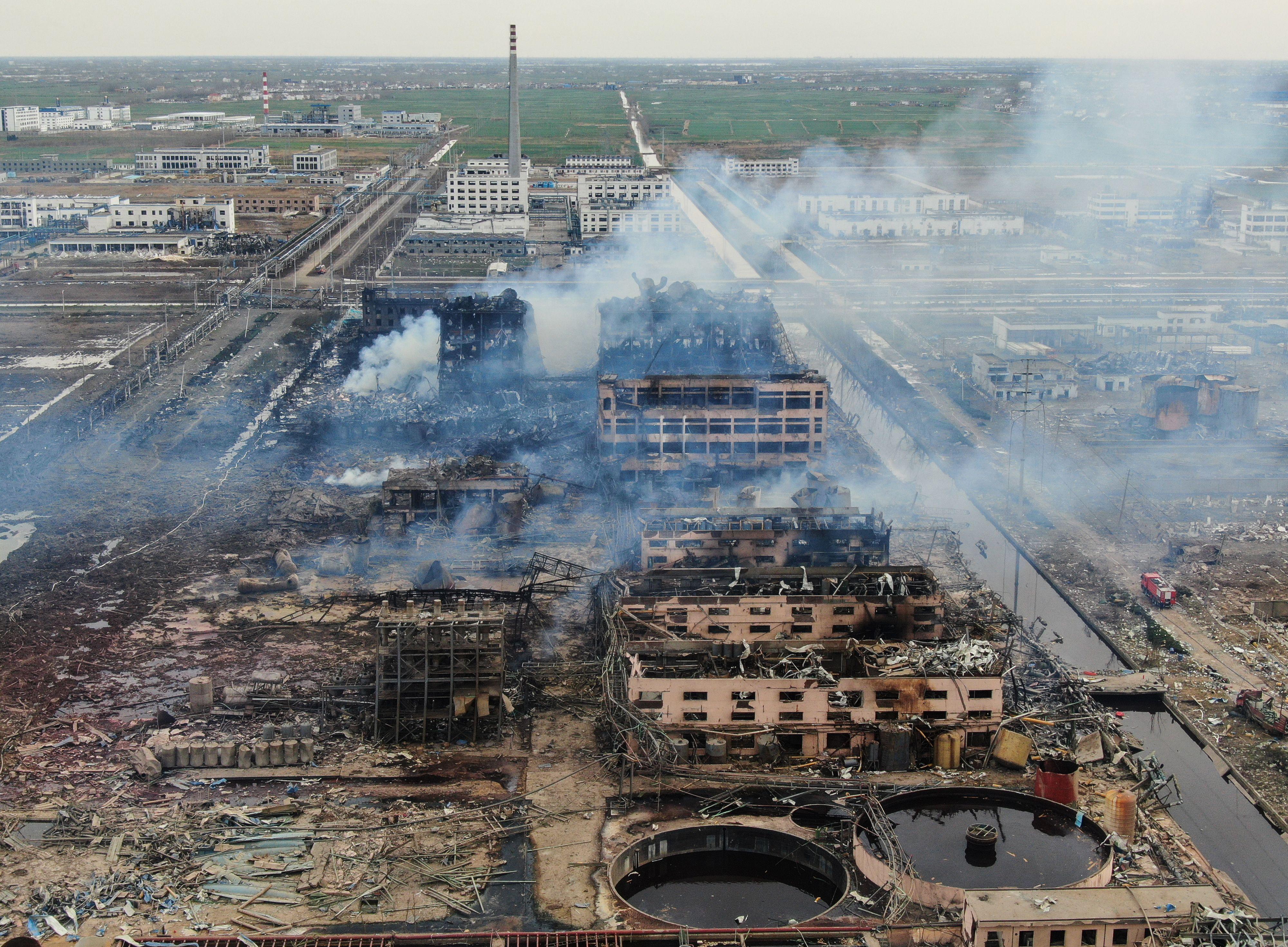 環保人士調查江蘇爆炸現場 被中共公安帶走