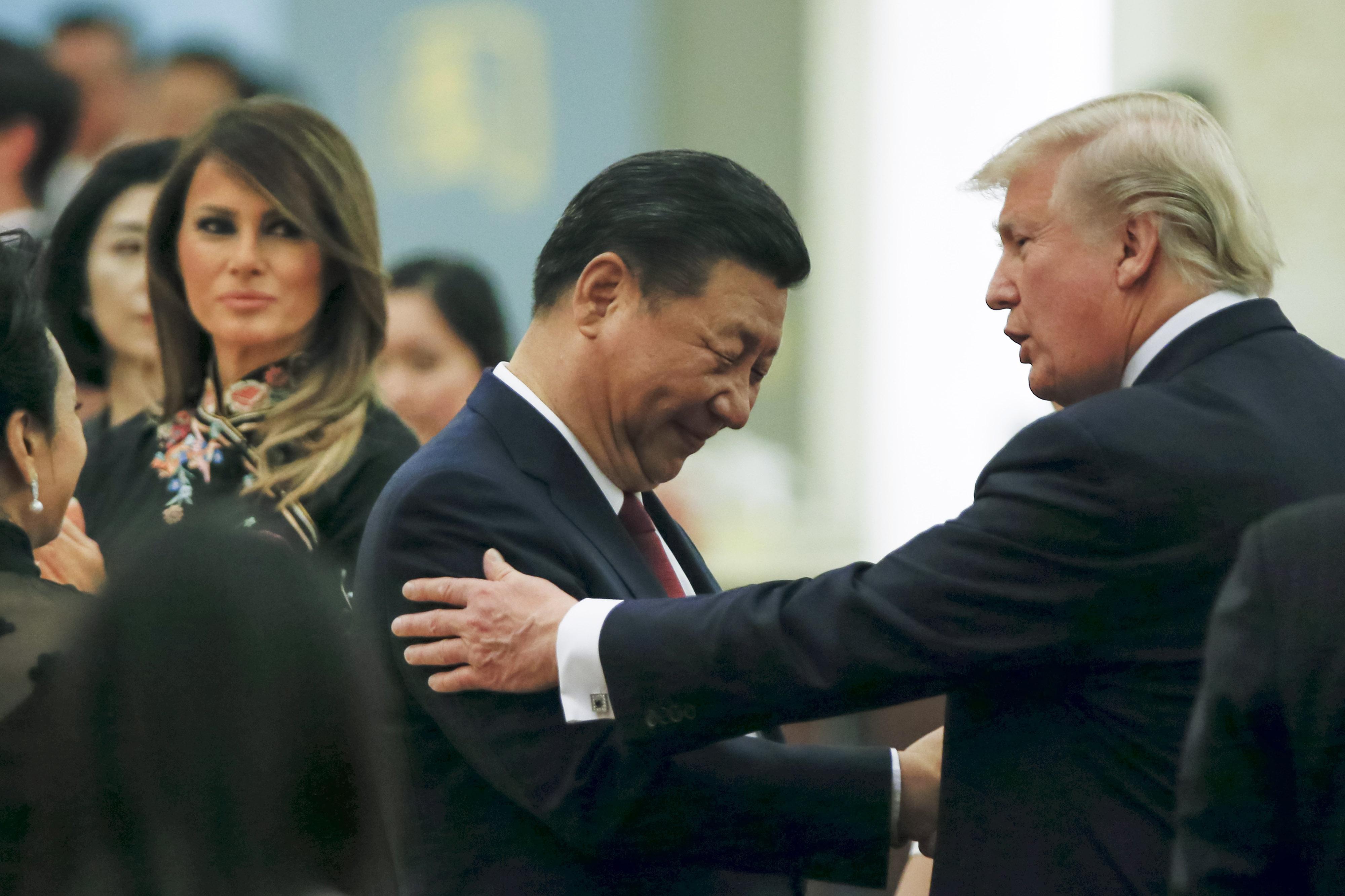 美國財長史蒂芬‧梅努欽(Steven Mnuchin)周四(3月14日)告訴媒體記者,三月不開習特會。(Thomas Peter–Pool/Getty Images)