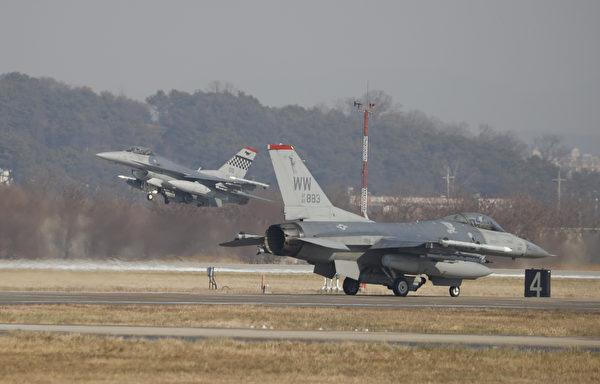 F-16戰鬥機。(KIM HONG-JI/AFP/Getty Images)