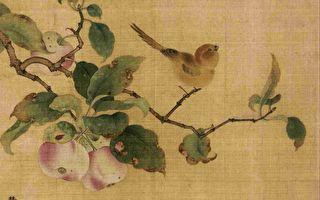 林檎树在北方指苹果树,南方指荔枝树。图为南宋 林椿《果熟来禽图》所绘林檎果一枝。(公有领域)