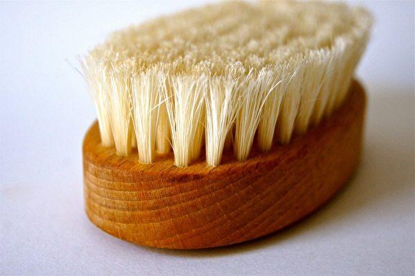 FDA建议食用酪梨前,先用蔬果刷(produce brush)擦洗外皮,冲洗后再用纸巾或干净的布揩干。(公有领域)
