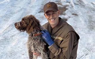 快递员冰湖救狗不留名 想不到第二天送货到它家门口