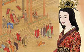 右:东汉光武帝皇后阴丽华像;左:汉光武锡封褒德,取自清陈书绘《历代帝王道统图册》。(《品位生活》杂志提供)