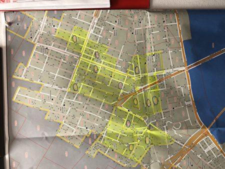65D选区地图,覆盖有12个选举站。