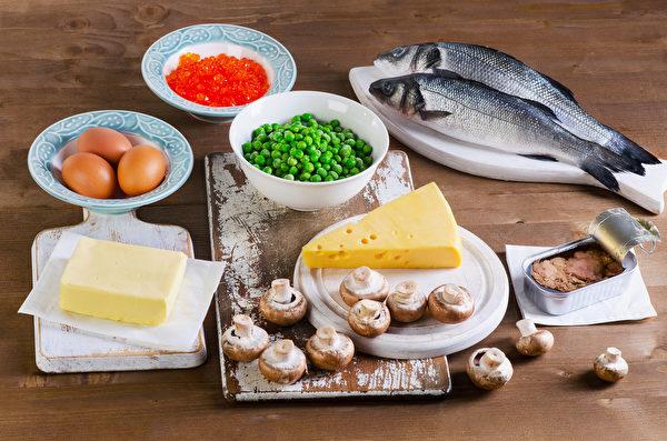 食用富含维生素D的食物,可补充所需维生素D的10%~20%。(Shutterstock)