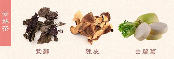 感冒初期食療方之:紫蘇茶,可緩解初期感冒症狀。(Shutterstock/大紀元製圖)