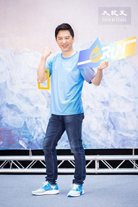 庾澄慶22日出席路跑記者會。