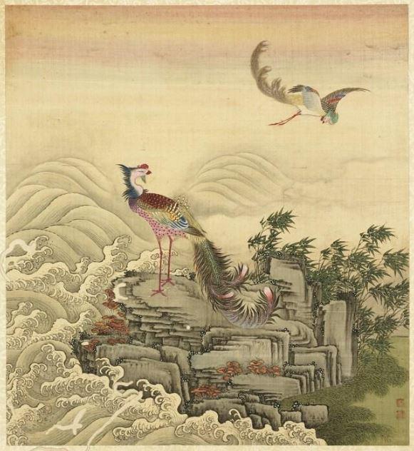 圖為清 戴洪《齡壽萬年冊.鳳凰祥雲》。(公有領域)