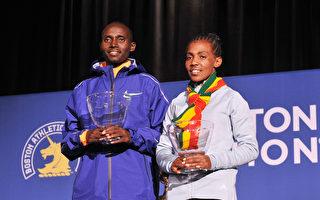 第123届波士顿马拉松 非洲选手双夺冠