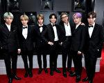 防彈少年團(BTS)出席第61屆葛萊美獎頒獎典禮紅毯資料照。(Neilson Barnard/Getty Images for The Recording Academy)