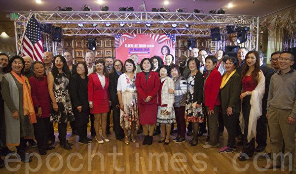 舊金山市長候選人李愛晨競選籌款晚宴 上週日舉行 熱鬧非凡