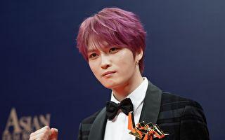 韓國男團JYJ成員金在中出席第13屆亞洲電影大獎資料照。 (Anthony Kwan/Getty Images)