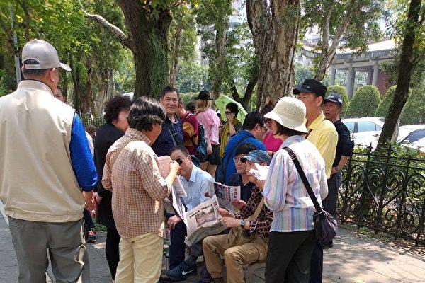 """台湾国父纪念馆景点上 大陆人的""""指路灯"""""""