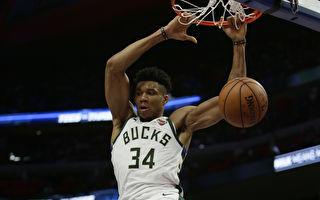 NBA季后赛:雄鹿4比0横扫活塞 强势晋级