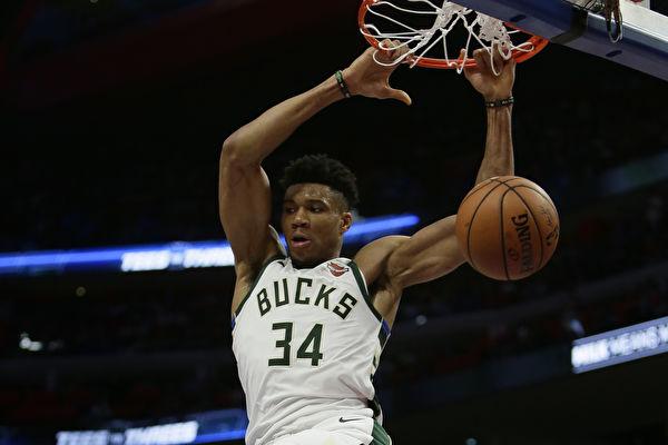 NBA季后赛:雄鹿横扫活塞 强势晋级