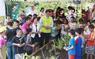 """县长与学童携手共创""""人工生态浮岛"""""""