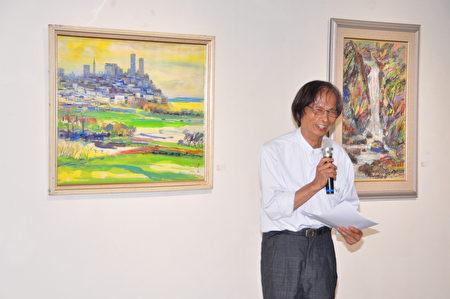 研究李澤藩畫作20多年,在李澤藩美術館擔任副館長的蔡長盛,談起大師的畫眉飛色舞、見解獨到
