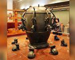 台中国立自然科学博物馆—候风地动仪模型。(林仕杰/必赢电子游戏网址)