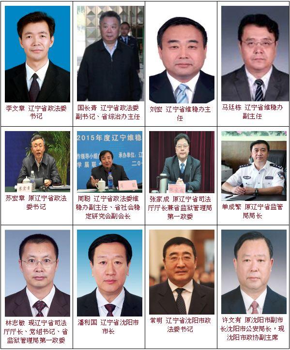 遼寧省迫害法輪功學員的主要責任人。(大紀元製圖)