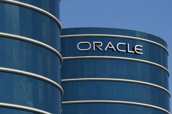 世界電腦軟件巨頭甲骨文加州總部大樓。 (Justin Sullivan/Getty Images)
