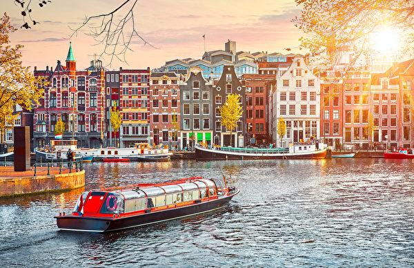 阿姆斯特丹河风光。(shutterstock)