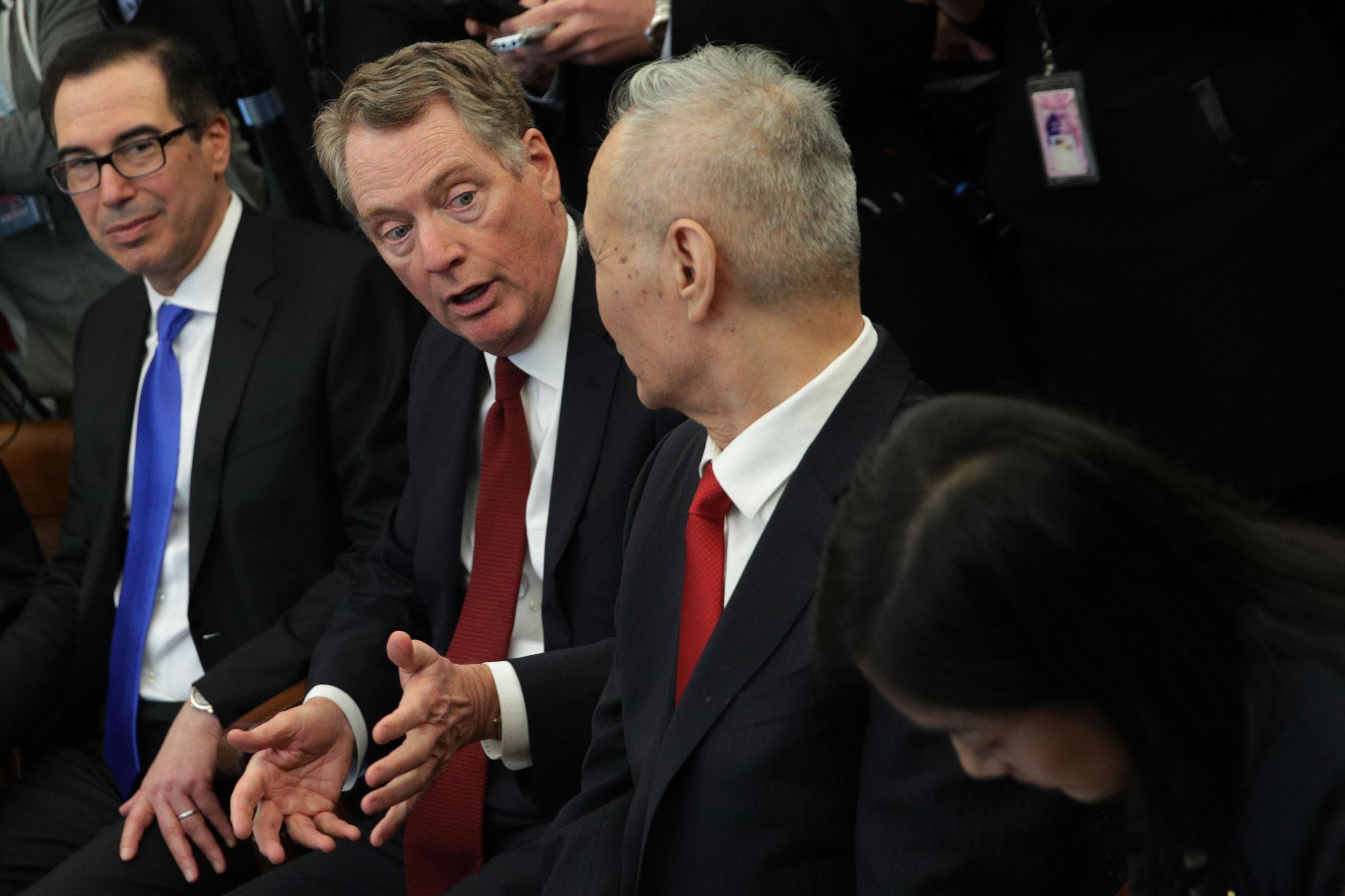 白宮:萊特希澤和劉鶴下周電話貿易談判