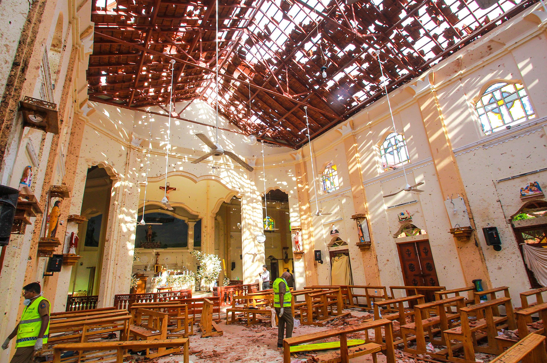 斯里蘭卡首都連環爆造成至少200人遇難,其中包括30多名外國人,2名中國人。(Stringer/Getty Images)