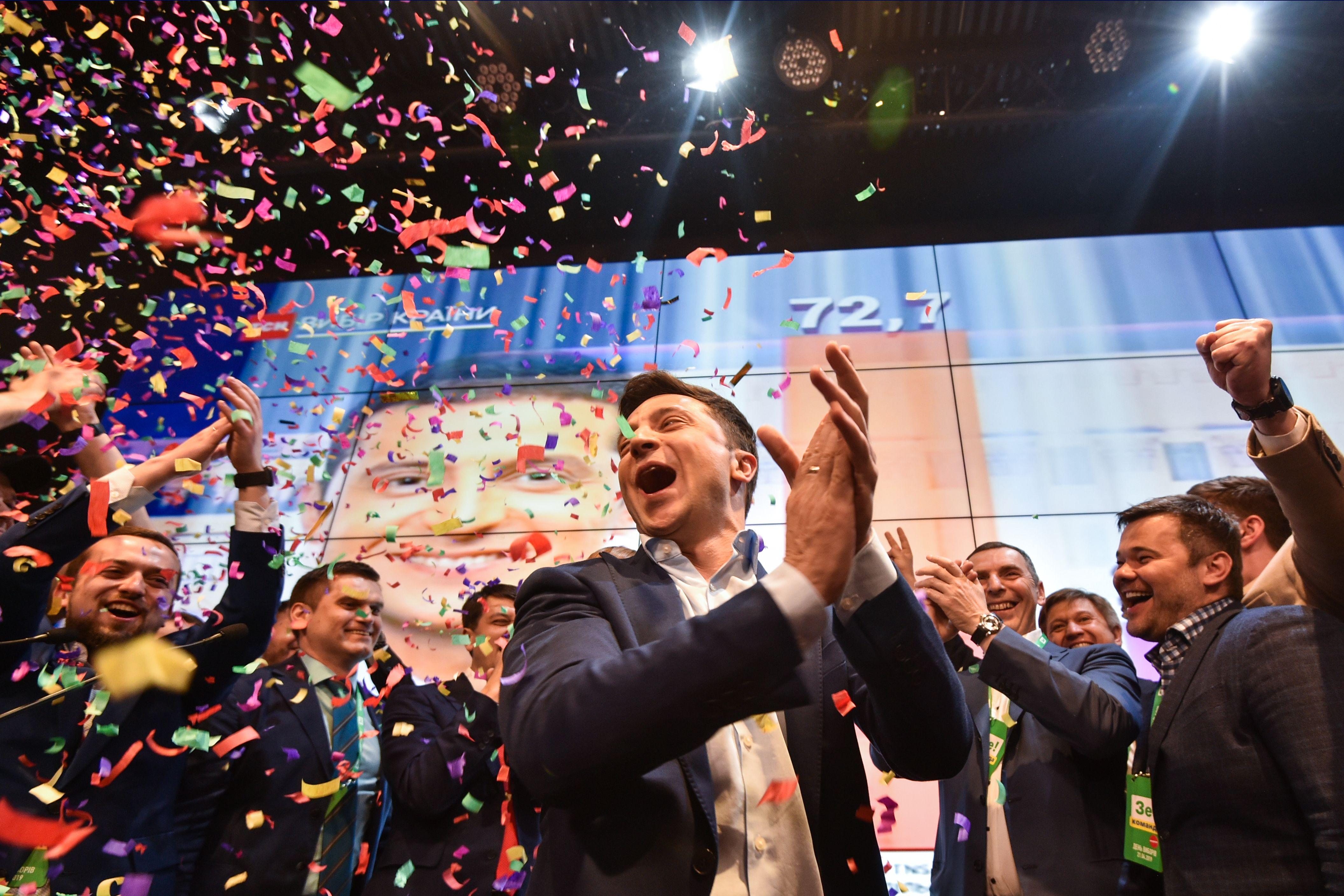 烏克蘭大選出口民調:喜劇演員輕鬆獲勝