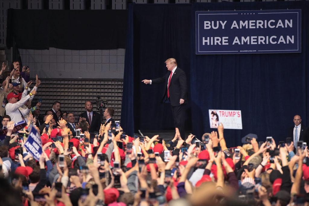 特朗普密歇根州集會 民主黨選民佔34%
