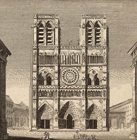 1700年前后的巴黎圣母院。 (Hulton Archive/Getty Images)