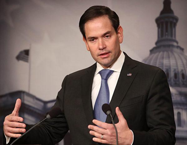 圖為美國共和黨國會參議員魯比奧(Marco Rubio)。(Mark Wilson/Getty Images)