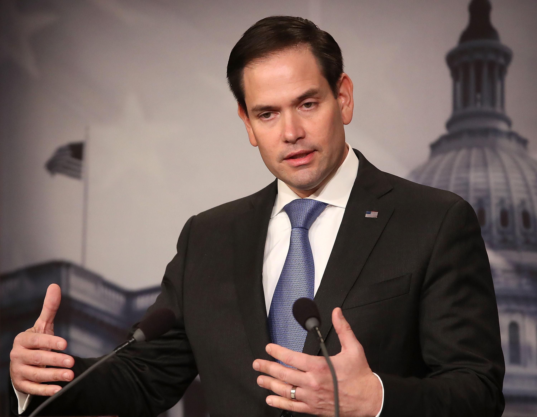 魯比奧(Marco Rubio)周三(10月23日)表示,他懷疑白宮與中方達成協議的真實性,「我不認為他們會履行第一階段協議,」魯比奧說 「他們有空子就會鑽。」圖為參議員魯比奧。(Mark Wilson/Getty Images)