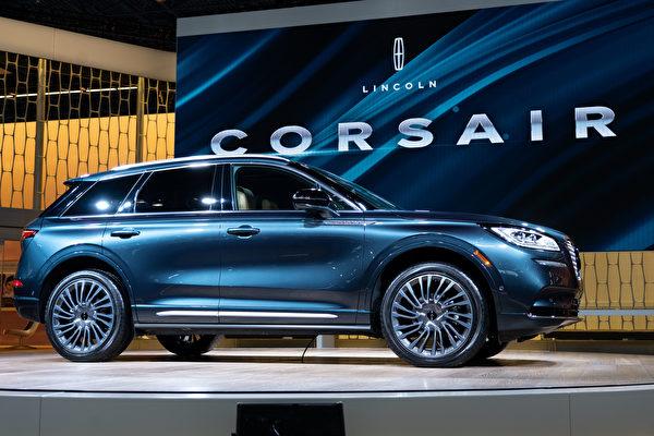 2019纽约国际车展,林肯全新CORSAIR。(戴兵/大纪元)